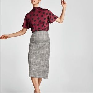Zara Midi Pencil Skirt